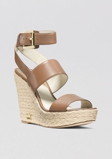 MICHAEL Michael Kors Open Toe Platform Wedge Espadrille Sandals - Poesy