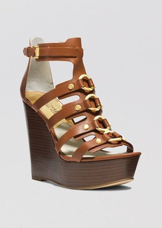 MICHAEL Michael Kors Open Toe Platform Wedge Sandals - Nadine