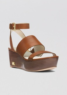 MICHAEL Michael Kors Open Toe Platform Wedge Sandals - Poesy