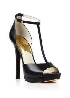 MICHAEL Michael Kors Open Toe T Strap Platform Sandals - Bloomingdale's Exclusive Brenna High Heel