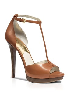 MICHAEL Michael Kors Open Toe T Strap Platform Sandals - Bloomingdale's Exclusive Brenna High Heel