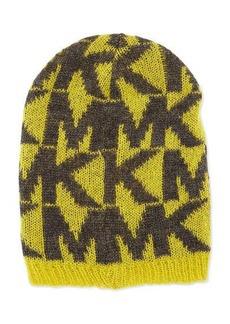 MICHAEL Michael Kors Oversize Logo Knit Hat