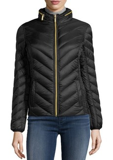 MICHAEL Michael Kors Packable Down-Blend Puffer Coat w/ Zip-Out Hood