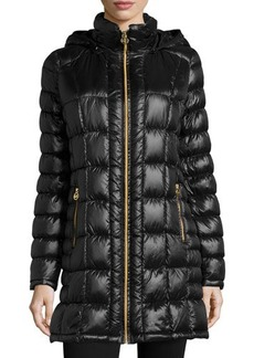 MICHAEL Michael Kors Packable Zip-Front Hooded Down Coat