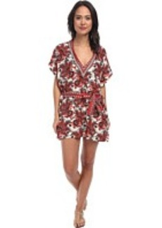 MICHAEL Michael Kors Padua Paisley V-Neck Tunic Cover-Up