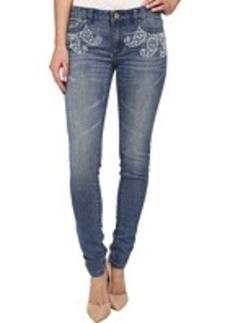 MICHAEL Michael Kors Paisley Stud Skinny Jeans in Veruschka Wash