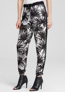 MICHAEL Michael Kors Palm Print Drawstring Track Pants