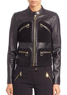 MICHAEL MICHAEL KORS Paneled Leather Jacket