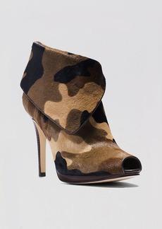 MICHAEL Michael Kors Peep Toe Platform Booties - Kendra High Heel
