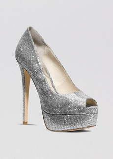 MICHAEL Michael Kors Peep Toe Platform Evening Pumps - Milan High Heel