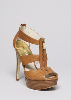 MICHAEL Michael Kors Peep Toe Platform Sandals - Berkley High Heel