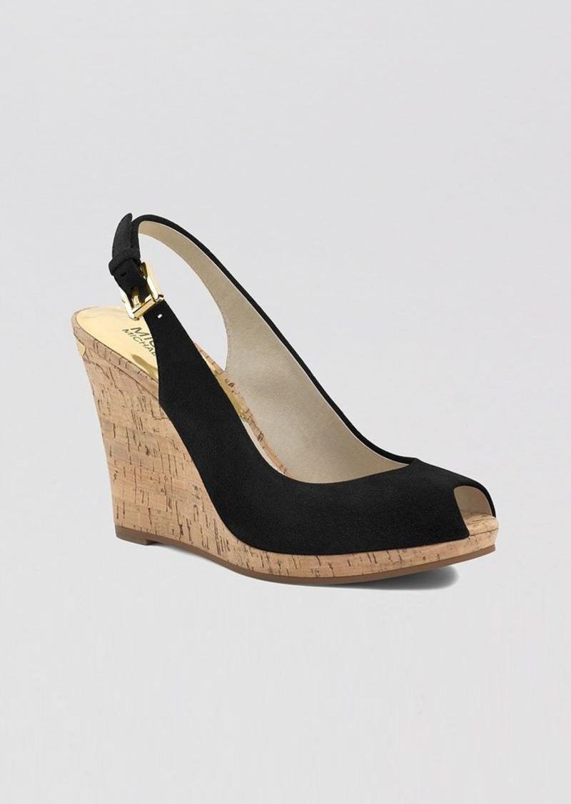 MICHAEL Michael Kors Peep Toe Platform Wedge Sandals - Keegan Slingback