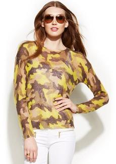 MICHAEL Michael Kors Petite Camo-Print Sweater