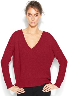 MICHAEL Michael Kors Petite Deep V-Neck Sweater