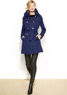 MICHAEL Michael Kors Petite Double-Breasted Trench Coat