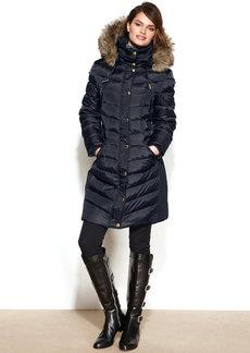 MICHAEL Michael Kors Petite Faux-Fur-Trim Hooded Puffer Down Coat