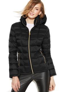 MICHAEL Michael Kors Petite Hooded Down Packable Coat
