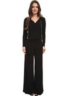 MICHAEL Michael Kors Petite Long Sleeve Chain Neck Wide Leg Jumpsuit