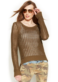 MICHAEL Michael Kors Petite Open-Stitch Sweater