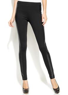 MICHAEL Michael Kors Petite Skinny Faux-Leather-Panel Pants