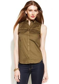 MICHAEL Michael Kors Petite Sleeveless Studded Shirt