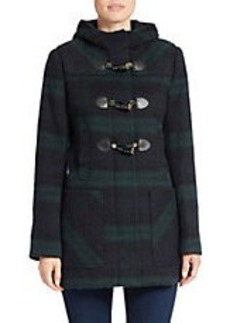 MICHAEL MICHAEL KORS Plaid Toggle Coat