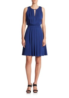 MICHAEL MICHAEL KORS Pleated A-Line Dress