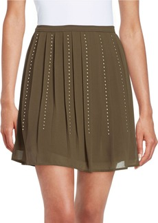 MICHAEL MICHAEL KORS Pleated Stud Skirt