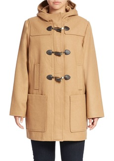 MICHAEL MICHAEL KORS Plus Hooded Toggle Coat