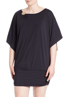 MICHAEL MICHAEL KORS PLUS Plus Dolman-Sleeved Cover-Up
