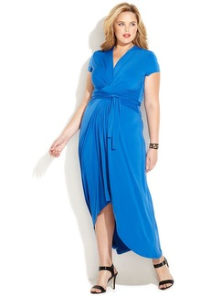 MICHAEL Michael Kors Plus Size Faux-Wrap Maxi Dress