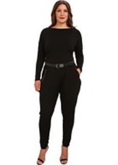 MICHAEL Michael Kors Plus Size Overarm Zip Jumpsuit