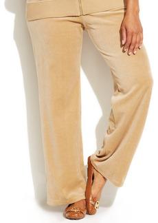 MICHAEL Michael Kors Plus Size Pull-On Velour Pants