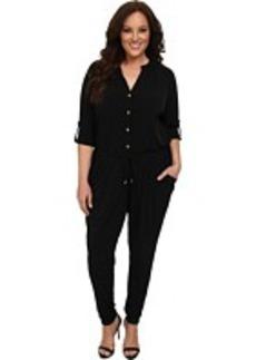 MICHAEL Michael Kors Plus Size Roll Sleeve Raglan Jumpsuit