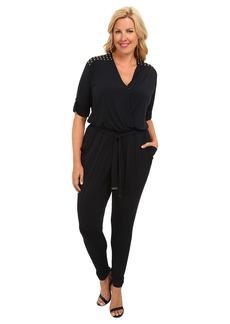 MICHAEL Michael Kors Plus Size Roll Sleeve Stud Jumpsuit