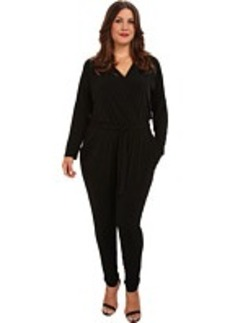 MICHAEL Michael Kors Plus Size Roll Sleeve Stud Jumpsuit