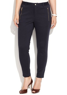 MICHAEL Michael Kors Plus Size Skinny-Leg Zip-Pocket Ponte Pants