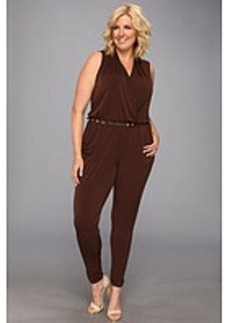 MICHAEL Michael Kors Plus Size S/L Belted Jumpsuit
