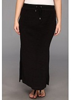 MICHAEL Michael Kors Plus Size Terry Cloth Maxi Skirt w/ Side Slits