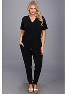MICHAEL Michael Kors Plus Size V Neck Flutter Sleeve Jumpsuit