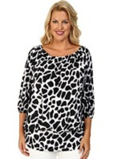 MICHAEL Michael Kors Plus Size Water Ikat Draped Cover-Up