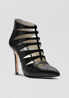 MICHAEL Michael Kors Pointed Toe Caged Booties - Mavis High Heel