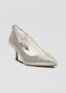 MICHAEL Michael Kors Pointed Toe Pumps - MK Flex Kitten Heel