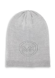 MICHAEL Michael Kors Pointelle-Logo Oversized Hat