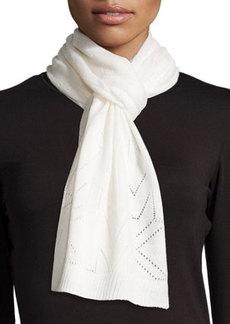 MICHAEL Michael Kors Pointelle Logo Rib-Trim Scarf
