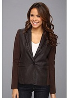 MICHAEL Michael Kors Ponte Faux Leather Blazer