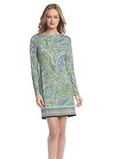 MICHAEL Michael Kors® Printed Boatneck Border Dress