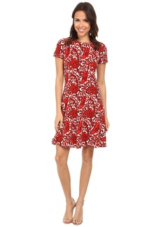 MICHAEL Michael Kors Printed Flare Sweater Dress