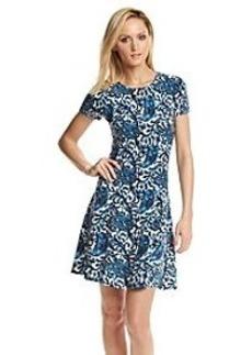 MICHAEL Michael Kors® Printed Flare Sweater Dress