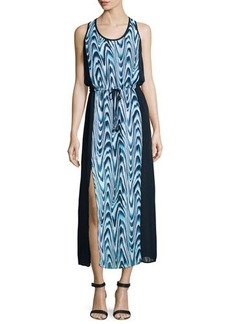 MICHAEL Michael Kors Printed Front-Slit Maxi Dress